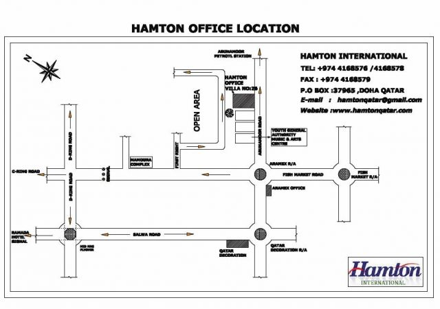 Hamton International Engineering LLC Doha, Qatar - Map